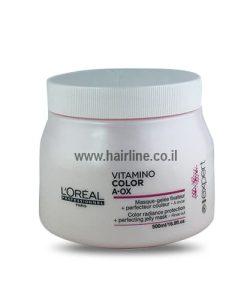 מסכה לשיער צבוע ויטמינו קולור A OX לוריאל 500 מ