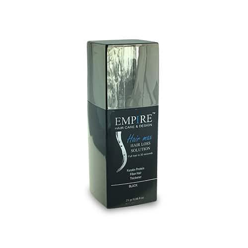סיבי שיער הייר מקס 25 גרם EMPIRE- צבע שחור ~ נשירת שיער - שיער דליל