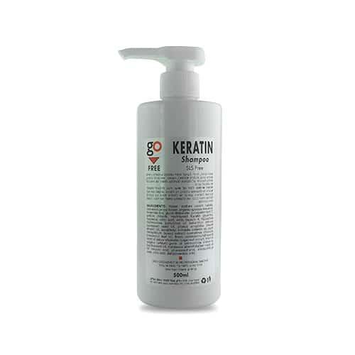 """שמפו קרטין ללא מלחים 500 מ""""ל Go Free Keratin Shampoo"""