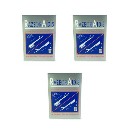 שלישיית חבילות תער חד פעמי 100 יחידות RAZOR AID'S