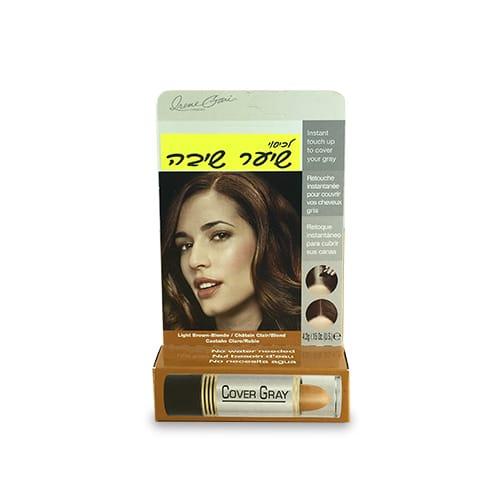 מקלוני צבע Cover Gray לכיסוי שיער שיבה/ אפור חום בהיר