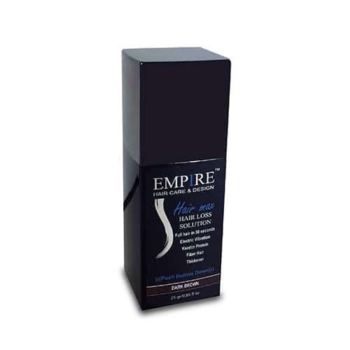 סיבי שיער הייר מקס 25 גרם EMPIRE- צבע חום כהה