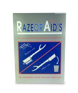 תער חד פעמי 100 יחידות RAZOR AID'S - ציוד למספרות וללקוחות פרטיים