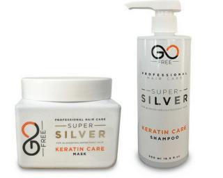 """סט סילבר מושלם Go Free: מסכת סילבר מקצועית 500 מ""""ל ושמפו סילבר 500 מ""""ל לשיער לבן/אפור/מובהר"""