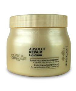 """מסכה לשיער יבש מאוד אבסולוט ריפייר ליפידיום 500 מ""""ל LOREAL"""