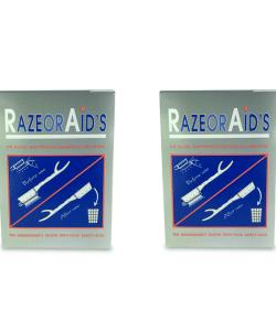 זוג חבילות תער חד פעמי 100 יחידות RAZOR AID'S