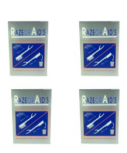 רביעיית חבילות תער חד פעמי 100 יחידות RAZOR AID'S