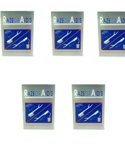 חמישיית חבילות תער חד פעמי 100 יחידות RAZOR AID'S