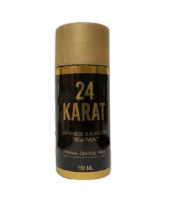 """החלקת שיער 24 קראט- 24 KARAT יפנית וקראטין ללא פורמלין 150 מ""""ל"""
