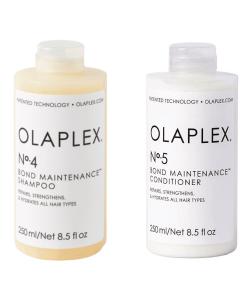 """סט- שמפו אולפלקס 4 ומרכך אולפלקס 5 - 250 מ""""ל מבית OLAPLEX"""